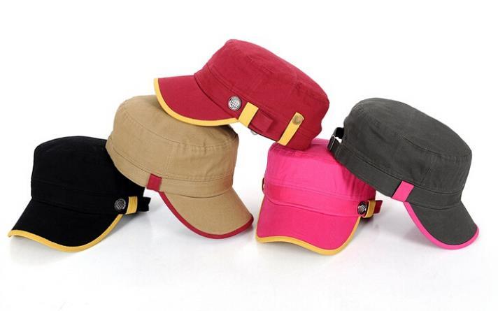 Wholesale 10pcs/Lot 2015 Women Cadet Style Hat 2015 Fashion Ladies Flex Fit Cotton Military Caps Trendy Flexfit Army Hats Bulk(China (Mainland))