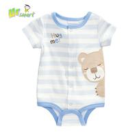 Baby Boy Clothing Jumpsuits Cartoon Bear Bodysuits 2015 children clothing Meninos Stripped Baby Bodysuit Boy Clothes