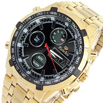 Мужские часы скидка роскошные мальчики цифровой военная кварцевые двоичной хронограф водонепроницаемый спорт наручные часы из нержавеющей цвет золото