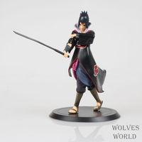"Free Shipping Naruto Shippuden Uchiha Sasuke PVC Action Figure Collectible Model Toy 7"" 18cm NTFG070"