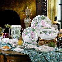 Glaze ceramics 56 quality bone china dishes dinnerware set