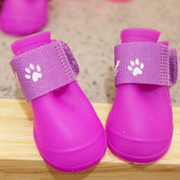 4PCS/SET High Quality Pet dog Rain Boots Shoes Pet Boots Anti Slip Skid Waterproof PVC Shoes For Puppy Product Free Shipping