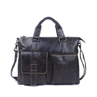 2015 New Guaranteed 100% Men's Genuine Leather Briefcase Business Laptop Handbags Bag Man Russian Shipping
