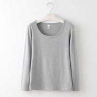 Self-restraint black tight basic shirt female long-sleeve o-neck 100% cotton slim t-shirt white basic shirt