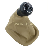 For 1998-2004 VW Passat B5 / B5.5 Gear Shift Knob Cover Beige Leatherette Boot 5-speed Collar