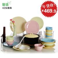 Sword tableware chinese style dinnerware set quality jade dishes plate chopsticks set