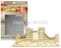 LONDON TOWER BRIDGE - Metal Sheet Nano Puzzle DIY 3D Laser Cut Models Metal Educational Toy, Free Shipping