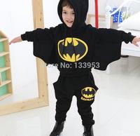 2015 New Brand Spring Autumn (4 Sets/lot) Boys hoodie  the Batman Tracksuit Kids Cotton Clothing Suit [CS-005]