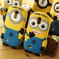 New cute cartoon model silicon material Despicable Me Yellow Minion Case for Samsung Samsung Galaxy S4 I9500 YC172