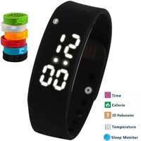 W2 Smart Band SmartWatch Slim Bracelet Wristband Fitness Tracker 3D Pedometer Sleep Monitor Thermometer Fuelband Time Display
