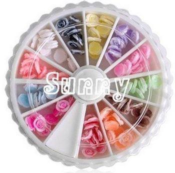 Одной коробке 12 цветов мода ногтей украшения полые блестки супер яркая вспышка керамические ...