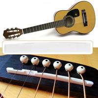 6 String Classical Guitar Bone Bridge Saddle Nut Set Guitar Bridge Parts Ivory