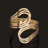 2015 New Fashion punk cuff bangle charm 18k gold silver Unique Geometry Irregular bracelet jewelry for women BZ0205