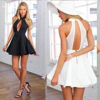 4330ebay hot source aliexpress nightclub women Sexy Halter Neck Dress couture dress color