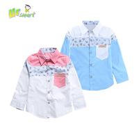 Patchwork Boys Shirts Boy Blouses Costume menino Children's Clothing Long Shirt For Boys Kids Clothes Children Blouse Shirt Kids