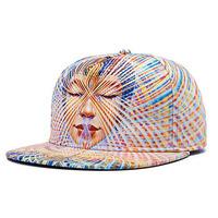 Wholesale 2015 COOL Men 3D Printed Flat Brim Snap Back Hats Women Flexfit Flatbill Snapback Caps Novelty Mens Cap Bulk 10pcs