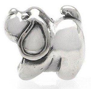 Free Shipping 1pc Jewelry 925 Silver Bead Charm European Bead Doggie Silver Bead Fit pandora bracelets