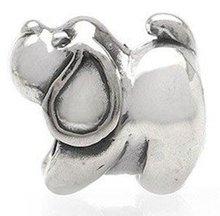 Free Shipping 1pc Jewelry 925 Silver Bead Charm European Bead Doggie Silver Bead Fit pandora bracelets & bangles H596
