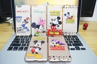 """For iphone6 4.7"""" cases Ultra-thin soft Golden Minnie mickey cell phone cases free Shipping"""