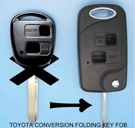 mote Key Shell Keykess Case Fob 2 Button For Toyota Yaris Carina Corolla Avensis TOY47 Blade(China (Mainland))
