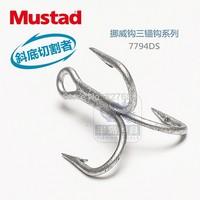 8 packs/lot mustad  treble sea fishing hooks  7794-ds #  3 x Bold  3 x  strengthen DACROMET treated  super seawater resistant