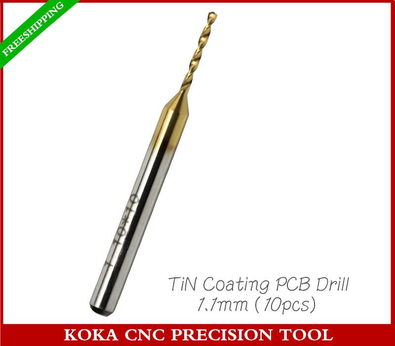 Фрезы KOKA 3.175 * 1.1 , CNC , pcb, ZT