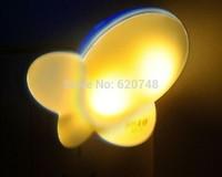 2pcs/pack light control sensor butterfly shape night lights, light-operated, 1 kilowatt 1 year, LED-415, free shipping