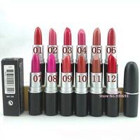 144pcs/lot M-C Brand Lady Women Sexy Charming Cosmetic Makeup Lipstick Moisture lip balm lasting lipstick Lip gloss