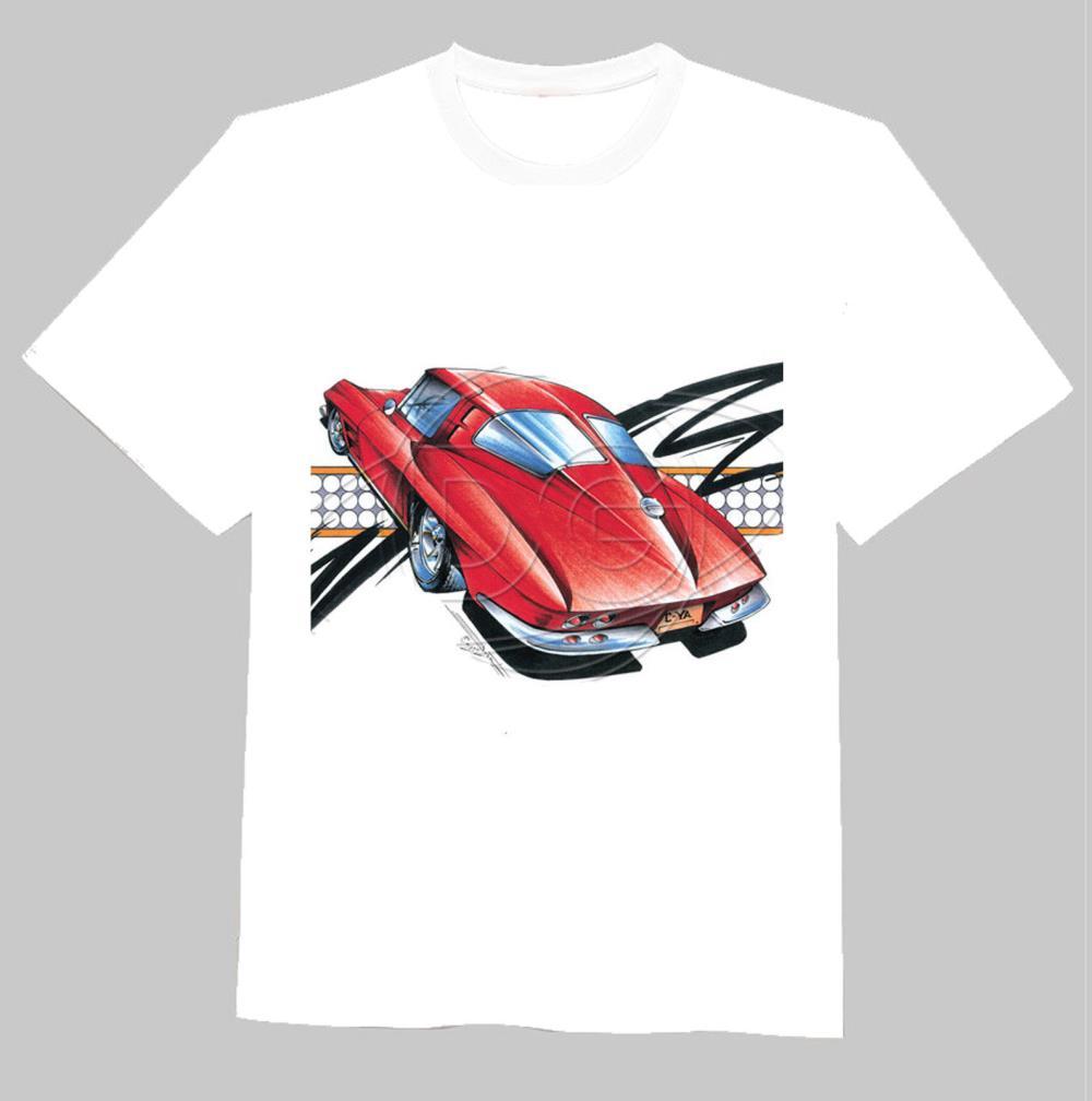 Free Shipping CLASSIC CAR CORVETTE O Neck Cotton Short Sleeve Cool Camiseta Men Camisetas T Shirt, Unisex(China (Mainland))