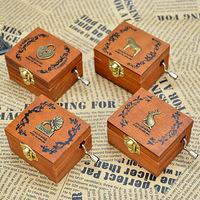 Vintage wool hand-cranked music box music box birthday gift male