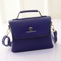 Handbags 2015 new fashion trend crown embossed shoulder bag Messenger wild candy colored small square shipping