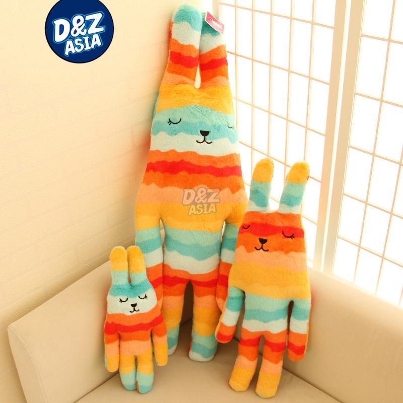 Plush craft plush jointed bunny Orange wave Striped rabbit bugs bunny Birthday valentine's day gift wedding plush(China (Mainland))