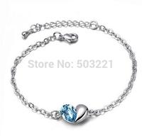 2015 New Rhinestone Charm Bracelet Single hand catenary sales 18K RGP Bracelet Chain women jewelrySP117 free shipping
