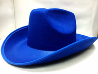 High Quality wool Felt Fedora large Cow Boy Style Hat outdoor large brim fedoras