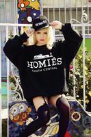 2014 new hot fashion Women's men's Homies pattern printing barnd Coat/Casaco Sweatshirt plus Size Long sleeve Hoodies