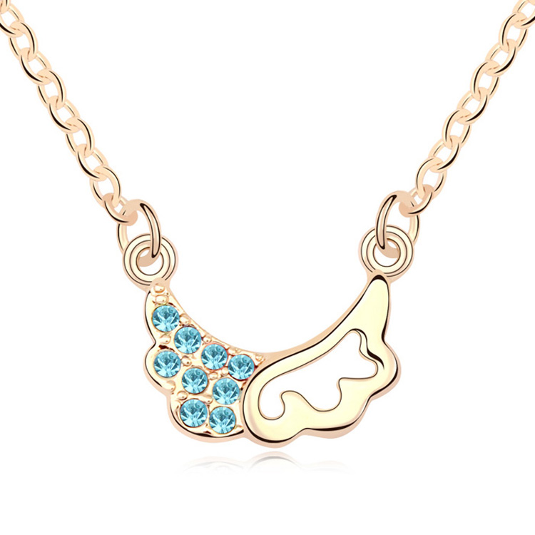 T100616 AAA Grade Crystal necklace Trainee Cupid La champagne over 15 mixed order free shipping