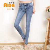 In the spring of 2015 female Korean Slim Skinny Jeans feet pants, denim trousers girl pencil pants