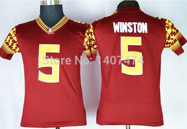 Best Seller Low Price,2014 New Style,Kids Florida State Seminoles (FSU) #5 Jameis Winston,est Sportest College Football Jerseys,(China (Mainland))
