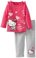 wholesale 6sets/lot 1~6years 2015 new spring autumn brand kids clothing set  baby girls 2pcs set cartoon kitty girl's sets 2415