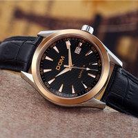 DOM brand luxury men's quartz watch relogio masculino leather men dress rhinestone watches reloj mujer clock 2015 wristwatches