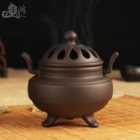 Ceramic incense burner cinnabar aroma stove Sandalwood aloes, tower incense incense burner Longquan censer