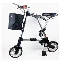 "Mini folding bicycle portable 8"" folding bike Unisex Ultralight mini folding bicycle foldabl"