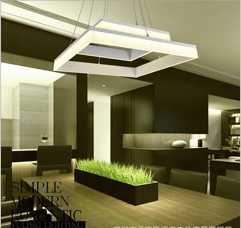 Moderne korte mode nieuwe creatieve ontwerp vierkante acryl warmwit 1 2 3 koppen led hanglamp - Ikea schorsing ...