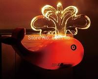 2pcs/pack light control sensor whale shape night lights, warm light and white light switchable, LED-416, free shipping