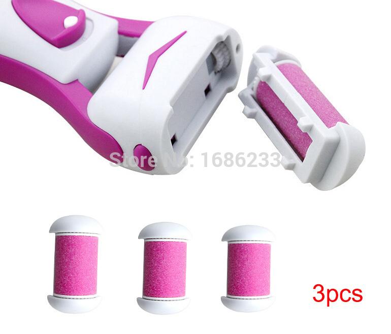 3pcs lot KM-2502 Refill Head Brush Feet Care Tool Skin Care Foot Dead Skin Removal Foot Exfoliator Heel Cuticles callus Remover(China (Mainland))