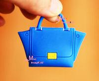 1/6 Scale Dollhouse Miniature BLUE Lady Handbag Bag