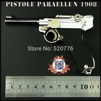 Free shipping 1:2.05 11.5cm long Alloy Detachable can't shoot LUGER P08 gun,Military Model, Military Souvenir gift,gun model toy