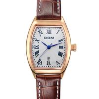 DOM brand fashion casual women quartz watch ladies dress classic elegant tonneau watches relogio feminino female clock