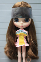 Free shipping Nude Doll Children's birthday gift Brown hair