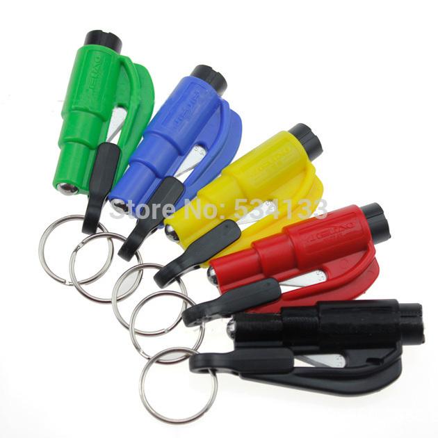 Car Emergency Rescue Tool Window Glass Breaker Seat Belt Cutter Car Safety Car Knife Tool Glass Breaker Life Hammer E3415 P(China (Mainland))
